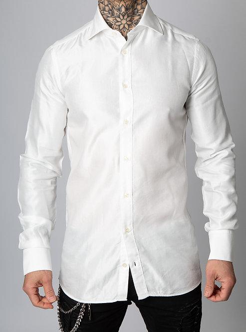 Giuseppe Baldassarri feines Baumwolle / Viskose Hemd (Ivory)