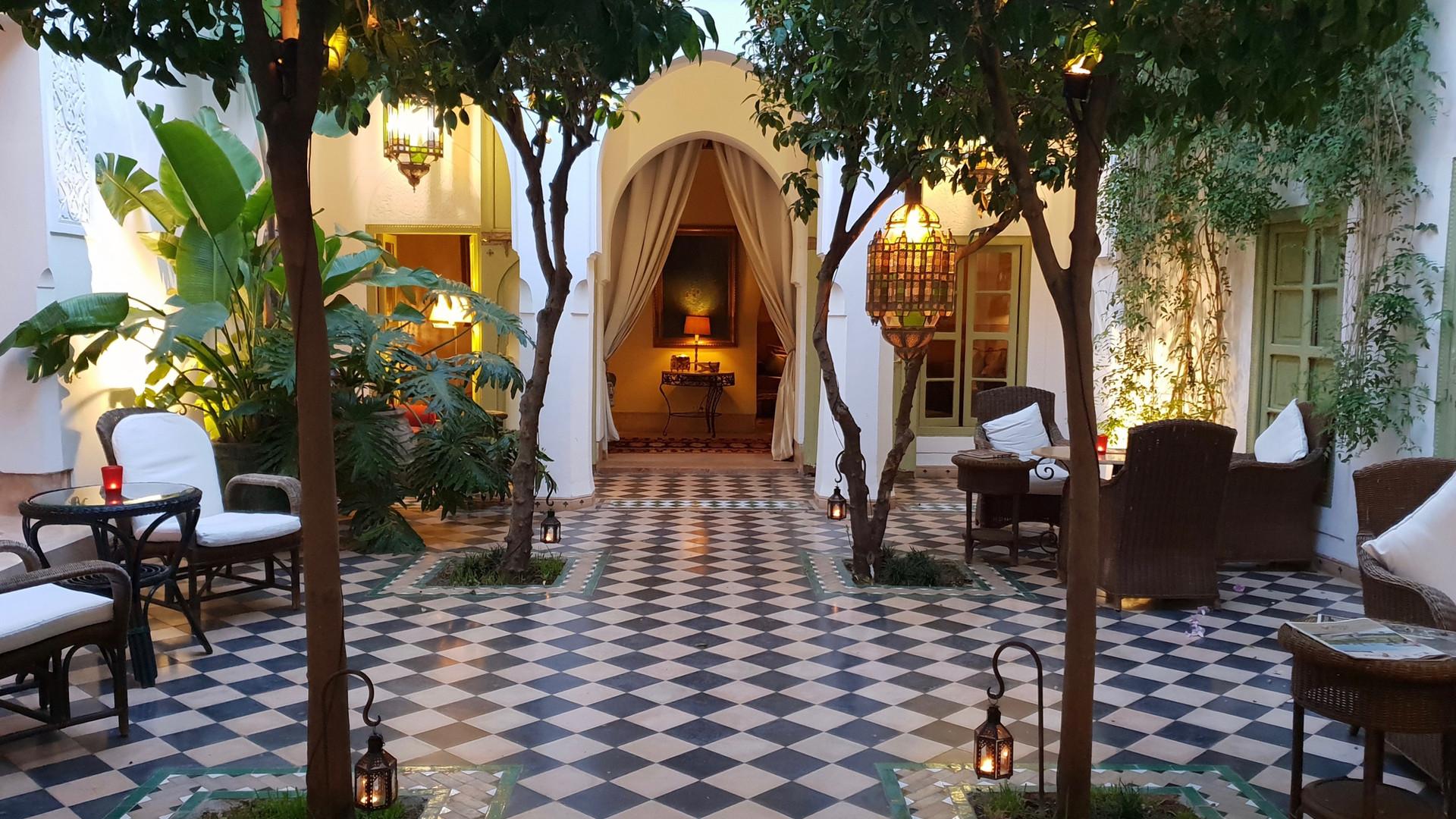 Patio du Riad Camilia à Marrakech
