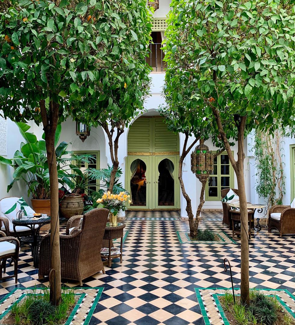 Patio verdoyant du Riad Camilia