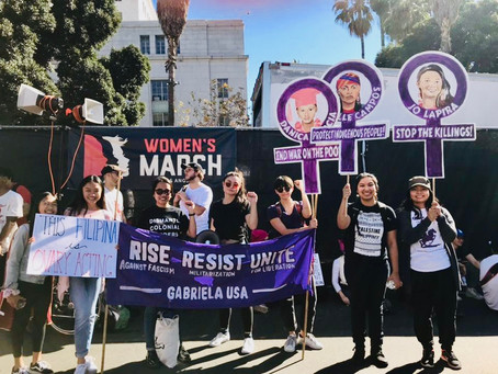 Filipinos demand marchers at LA Women's March: Condemn women's rights abuses under U.S. Imperialism