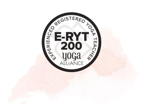 Registered Yoga Teacher ERYT-200