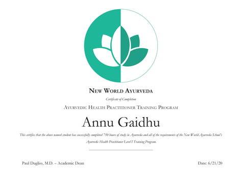 New World Ayurveda
