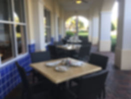 Centanni Cafe patio tables in Wellington, FL