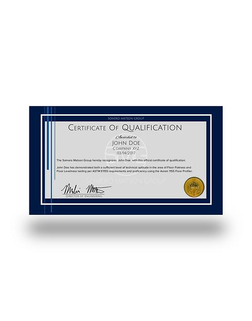 Axiom 1155 Certification Test