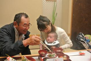 生後100日「お食い初め」