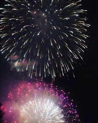 今年もお盆は諏訪湖花火