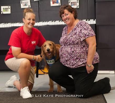 Walker, the service dog from Cedar Hill Labradoodles