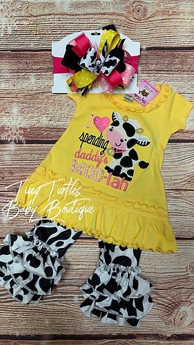 Spending daddy's MOO-Lah (dress)