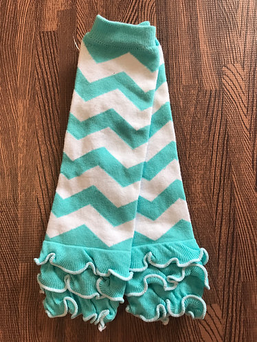 Aqua & White Chevron