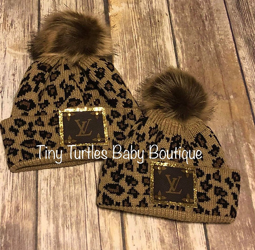 Leopard LoVe beanie (Mommy & me set of 2)