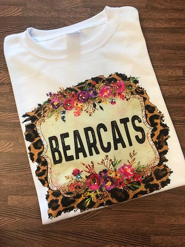 Floral leopard School Spirit tee