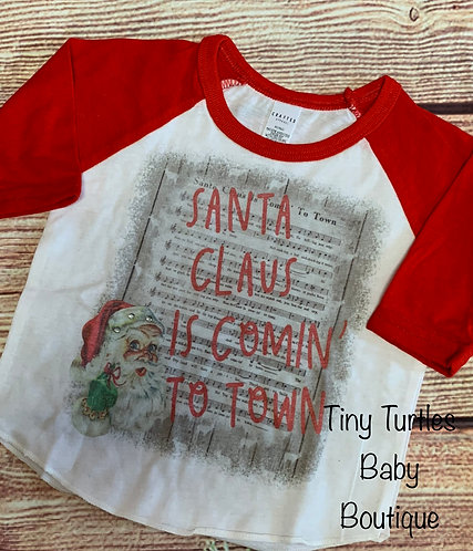 Santa Claus is Coming to town Tee