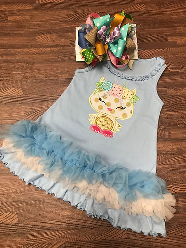 Floral Owl dress