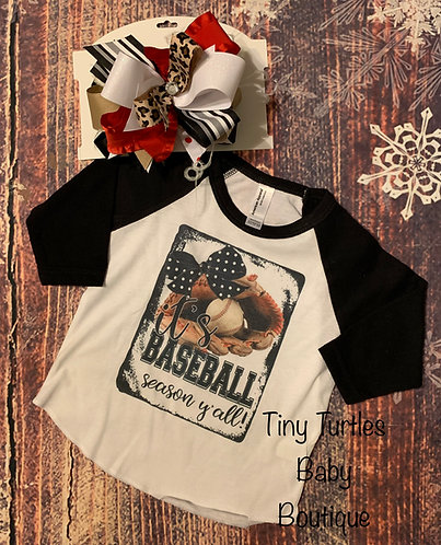 It's baseball Season ya'll (raglan tee)