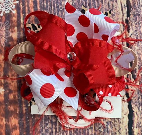 Peppermint Leopard Bow