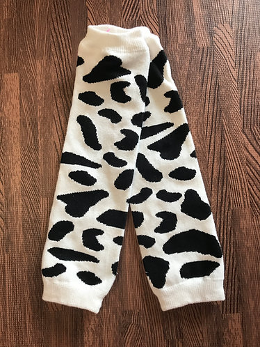 Cow Print leg warmers