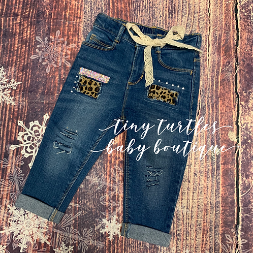 Shabby Leopard Jeans