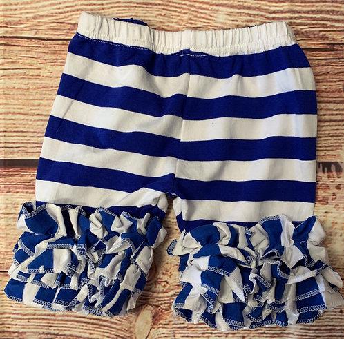 Royal Blue stripe shorties