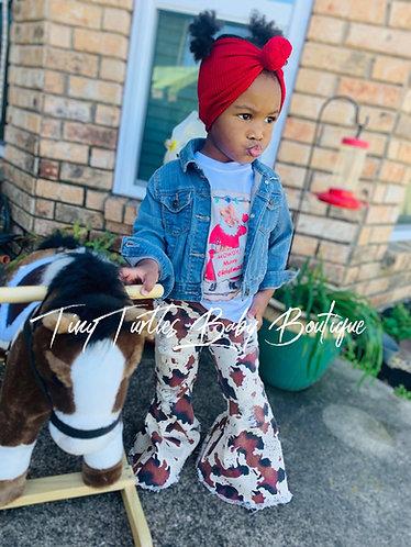 Santa was a cowboy Tee