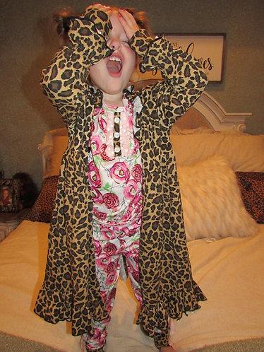 Crazy Girl Leopard Robe