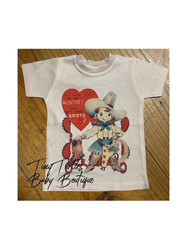 Bet your boots...Valentine's tee