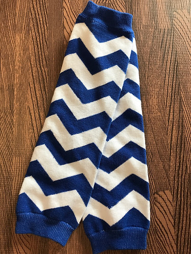 Royal Blue & White Chevron