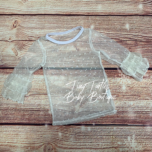Lace layering shirt