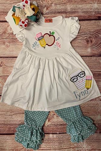 Happy notebook dress/pant set