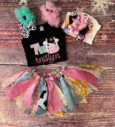 Moo Cow Birthday set