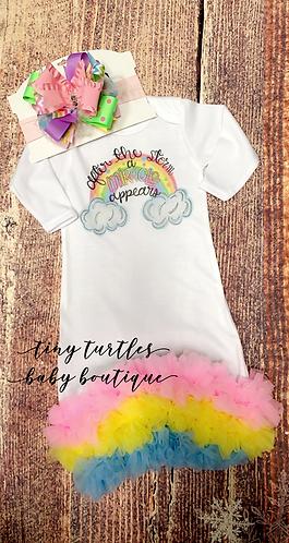 Rainbow baby gown