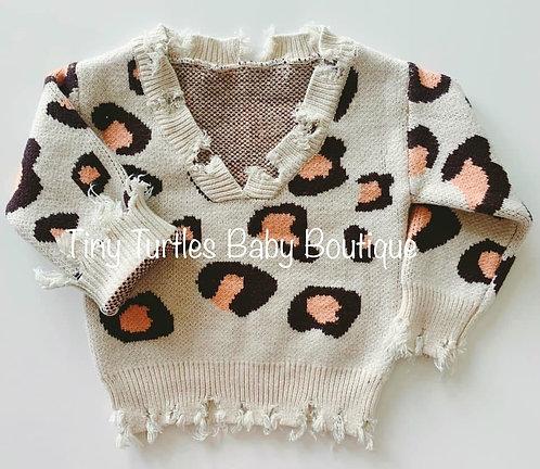 Slouchy leopard sweater