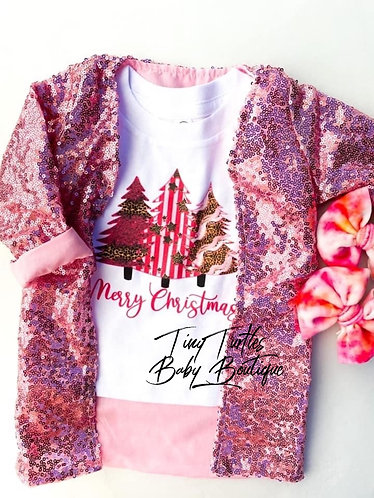 Dreamin' of a pink Christmas tee