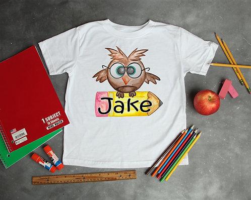 Owl w/ pencil tee