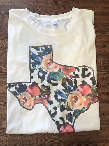Leopard Floral State Tee