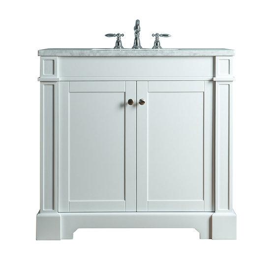 """Seine 36"""" White Single Sink Vanity"""