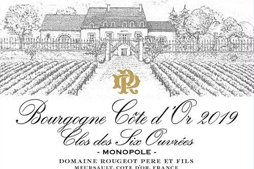 """Bourgogne Côte d'Or """"Clos des Six Ouvrées"""" 2019"""