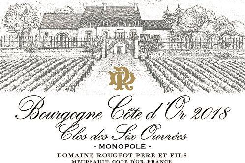 """Bourgogne Côte d'Or """"Clos des Six Ouvrées"""" 2018"""