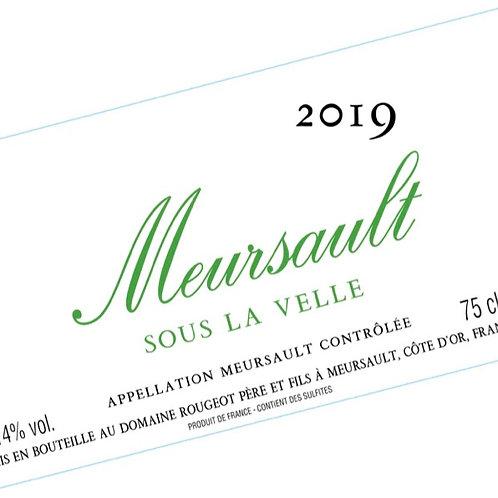 """Meursault """"Sous la Velle"""" 2018 Sans sulfite ajouté"""