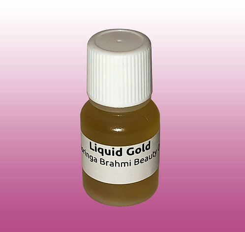 Liquid Gold Frankincense Resin Infused Moringa Brahmi Beauty Oil - Sample