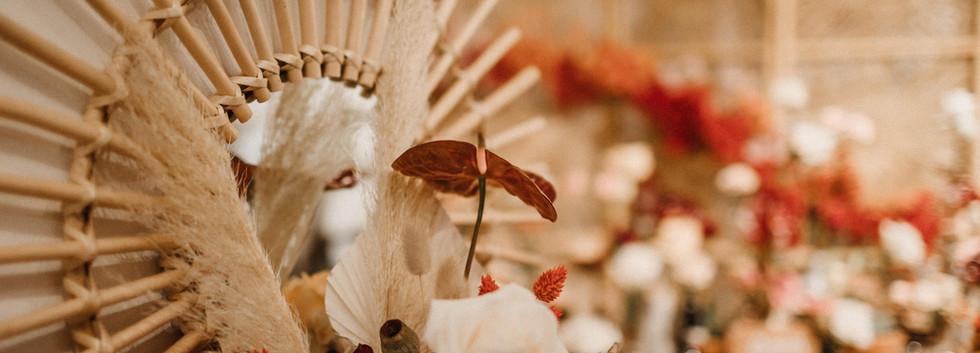 Miroir rotin - Photo ©Samantha Pastoor