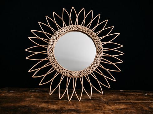 Miroir rotin - Photo ©Ludozme