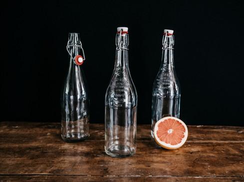 Anciennes bouteilles à limonade - Photo ©Ludozme