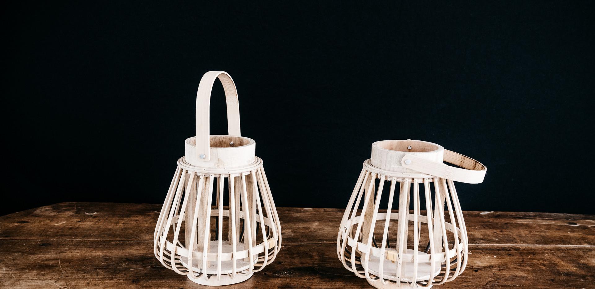 Lanternes rotin - Photo ©Ludozme