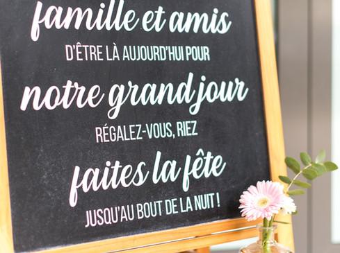 Ardoise de Bienvenue - Photo ©Xavier Verlon
