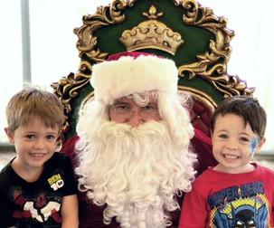 Santa with throne