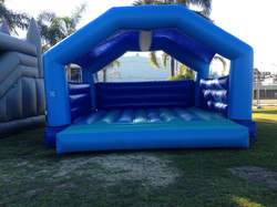 Large open Blue Jumping castle