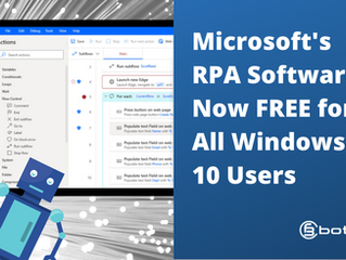 RPA Software Microsoft Power Automate Desktop Now FREE for All Windows 10 Users