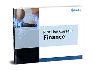 RPA Use Cases Finance Cover - transparen