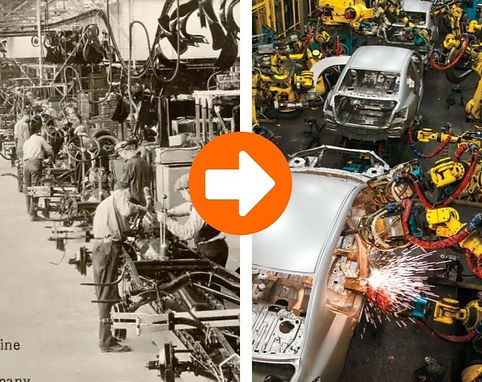 During the 2nd industrial revolution, Industrial Robotics automated work on the production floor