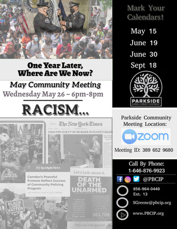parkside May 2021 Virtual Community Meeting